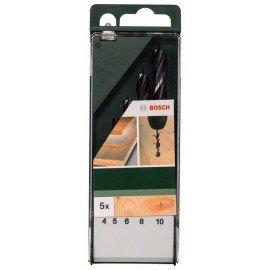 Bosch 5 részes fa spirálfúró készlet 4,0; 5,0; 6,0; 8,0; 10,0 mm