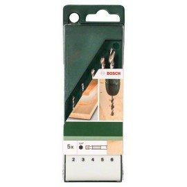 Bosch 5 részes fafúró készlet hatszögletű szárral 2,0; 3,0; 4,0; 5,0; 6,0 mm