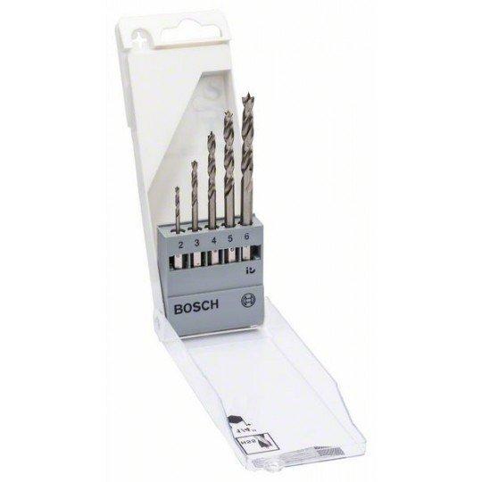 Bosch 5 részes fafúró készlet hatszögletű szárral 2.0; 3.0; 4.0; 5.0; 6.0 mm