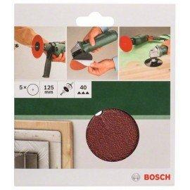 Bosch 5 részes papír csiszolólapkészlet fúrógéphez D= 125 mm; G= 40, 5 db