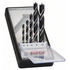 Bosch 5 részes Robust Line fa spirálfúró készlet 4; 5; 6; 8; 10 mm