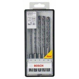 Bosch 5 részes Robust Line SDS-plus-5 kalapácsfúró-készlet Ø 5,5,6,7,8,10 x 165mm