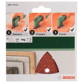 Bosch 6 részes csiszolólapkészlet deltacsiszolókhoz 105 mm