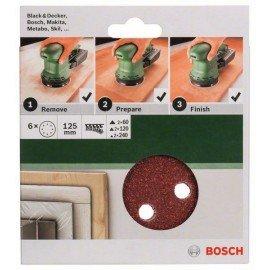 Bosch 6 részes csiszolólapkészlet excentercsiszolókhoz 125 mm