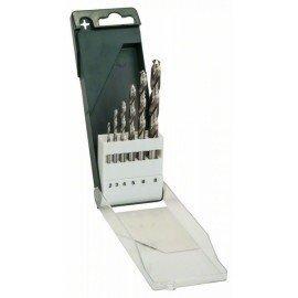 Bosch 6 részes fémfúrókészlet, HSS-G, DIN 338 2,0; 3,0; 4,0; 5,0; 6,0; 8,0 mm