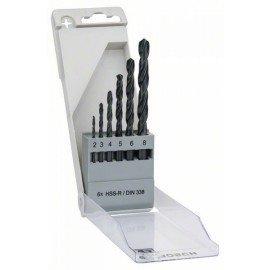 Bosch 6 részes fémfúrókészlet, HSS-R, DIN 338 2; 3; 4; 5; 6; 8 mm