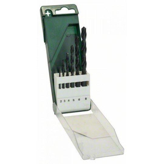 Bosch 6 részes fémfúrókészlet, HSS-R, DIN 338 2,0; 3,0; 4,0; 5,0; 6,0; 8,0 mm