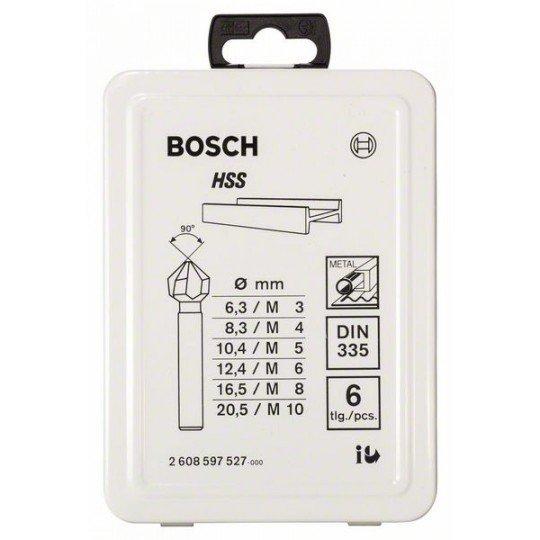 Bosch 6 részes kúpos süllyesztőkészlet 45; 63 mm / 5-10 mm / 6,3; 8,3; 10,4; 12,4; 16,5; 20,5 mm