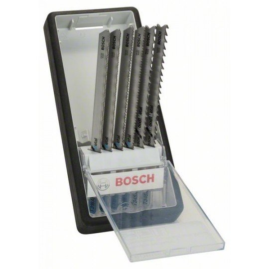 Bosch 6 részes Robust Line szúrófűrészlap készlet, Metal Profile T-szár T 318 AF (2x); T 318 BF (2x); T 345 XF (2x)