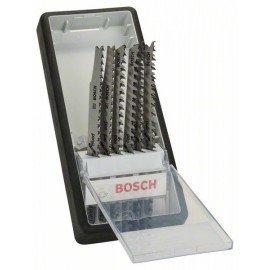 Bosch 6 részes Robust Line szúrófűrészlap készlet, Wood Expert T-szár T 308 B; T 308 BF; T 301 BCP (2x); T 234 X (2x)