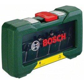 """Bosch 6 részes TC marófej készlet (1/4""""-os szár)"""