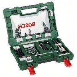 Bosch 68 részes V-Line fúró- és bitkészlet összecsukható késsel, mágnesrúddal, sarokcsavarozóval