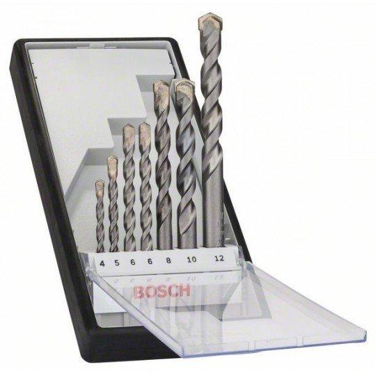 Bosch 7 részes Robust Line CYL-3 betonfúrókészlet 4; 5; 6; 6; 8; 10; 12 mm