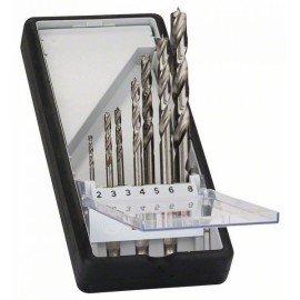 Bosch 7 részes Robust Line fa spirálfúró készlet, hatszögletű szárral 2; 3; 3; 4; 5; 6; 8 mm