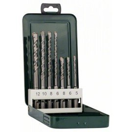 Bosch 7 részes SDS-plus kalapácsfúró-készlet 5,0x110; 6,0x110; 8,0x110; 6,0x160; 8,0x160; 10,0x160; 12,0x160 mm