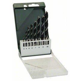 Bosch 8 részes fa spirálfúró készlet 3,0; 4,0; 5,0; 6,0; 7,0; 8,0; 9,0; 10,0 mm