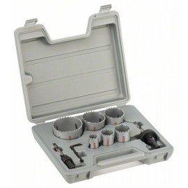 Bosch 9 részes körkivágó készlet, HSS bimetál 22; 29; 35; 44; 51; 64 mm