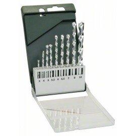 Bosch 9 részes kőzetfúró készlet 3,0 x 60; 4,0 x 75; 5,0 x 85; 5,5 x 85; 6,0 x 100; 6,5 x 100; 7,0 x 100; 8,0 x 120; 10,0 x 120