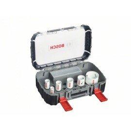 Bosch 9 részes szaniter körkivágó készlet, Progressor 19; 25; 30; 35; 40; 68 mm
