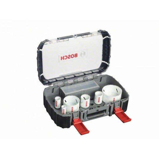 Bosch 9 részes villanyszerelő körkivágó készlet, Progressor 19; 25; 38; 44; 68; 83 mm