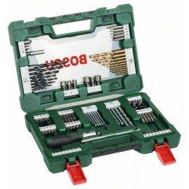 Bosch 91 részes V-Line TiN fúró- és bitkészlet racsnis csavarhúzóval és mágnesrúddal