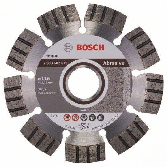 Bosch Best for Abrasive gyémánt darabolótárcsák 115 x 22,23 x 2,2 x 12 mm