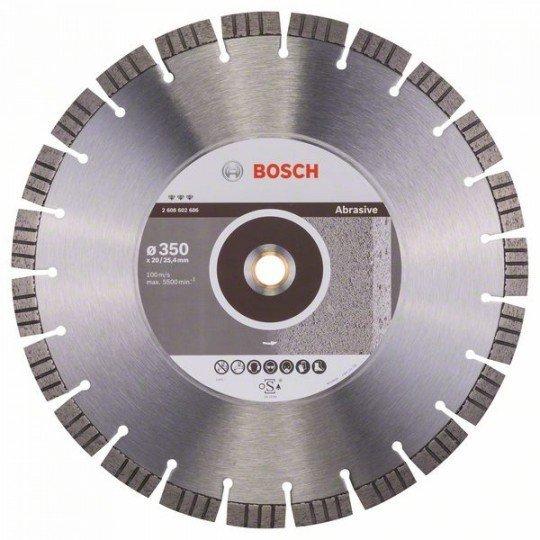 Bosch Best for Abrasive gyémánt darabolótárcsák 350 x 20,00+25,40 x 3,2 x 15 mm