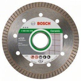 Bosch Best for Ceramic Extra-Clean Turbo gyémánt darabolótárcsa 115 x 22,23 x 1,4 x 7 mm