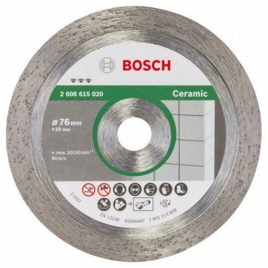 Bosch Best for Ceramic gyémánt darabolótárcsák 76 mm; 1,9 mm ;10 mm