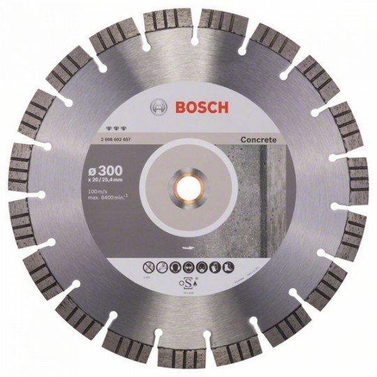 Bosch Best for Concrete gyémánt darabolótárcsák 300 x 20,00+25,40 x 2,8 x 15 mm