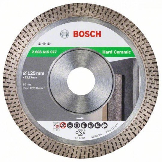 Bosch Best for Hard Ceramic gyémánt darabolótárcsa 125x22.23x1.4x10