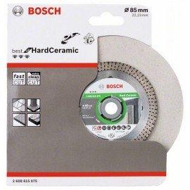 Bosch Best for Hard Ceramic gyémánt darabolótárcsa 85x22.23x1.4x7mm