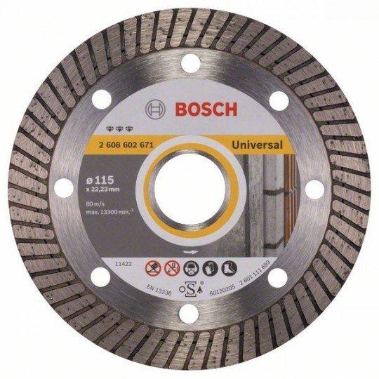 Bosch Best for Universal Turbo gyémánt darabolótárcsák 115 x 22,23 x 2,2 x 12 mm