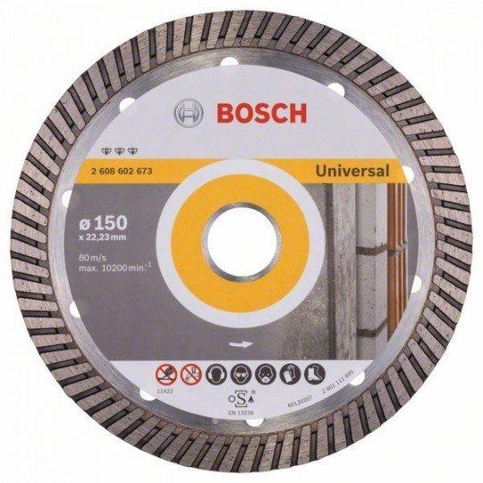 Bosch Best for Universal Turbo gyémánt darabolótárcsák 150 x 22,23 x 2,4 x 12 mm