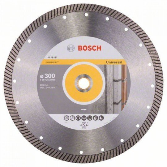 Bosch Best for Universal Turbo gyémánt darabolótárcsák 300 x 20,00+25,40 x 3 x 15 mm