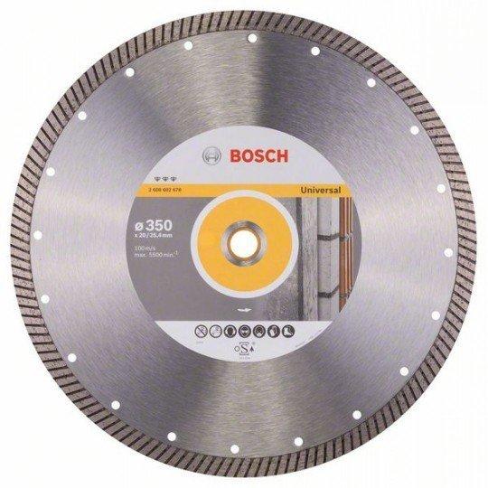 Bosch Best for Universal Turbo gyémánt darabolótárcsák 350 x 20,00+25,40 x 3,2 x 12 mm