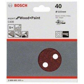 Bosch C430 csiszolólap, 5-ös csomag 115 mm, 40