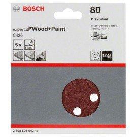 Bosch C430 csiszolólap, 5-ös csomag 125 mm, 80