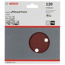 Bosch C430 csiszolólap, 5-ös csomag 150 mm, 120