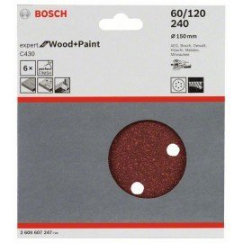 Bosch C430 csiszolólap, 5-ös csomag 150 mm, 40
