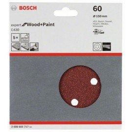 Bosch C430 csiszolólap, 5-ös csomag 150 mm, 60