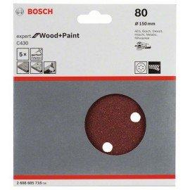 Bosch C430 csiszolólap, 5-ös csomag 150 mm, 80