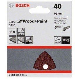 Bosch C430 csiszolólap, 5-ös csomag 93 mm, 40