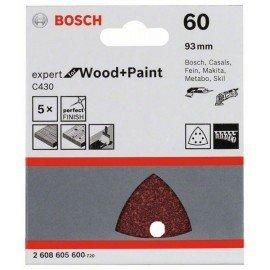 Bosch C430 csiszolólap, 5-ös csomag 93 mm, 60