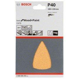 Bosch C470 csiszolólap, 10-es csomag 100x150 mm, 40