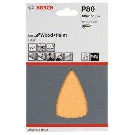 Bosch C470 csiszolólap, 10-es csomag 100x150 mm, 80