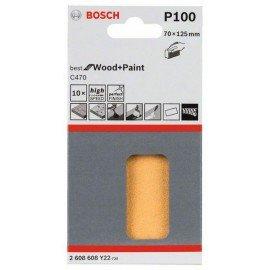 Bosch C470 csiszolólap, 10-es csomag 70 x 125 mm, 100