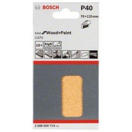 Bosch C470 csiszolólap, 10-es csomag 70 x 125 mm, 40