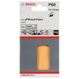 Bosch C470 csiszolólap, 10-es csomag 70 x 125 mm, 60