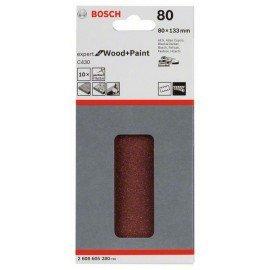 Bosch C470 csiszolólap, 10-es csomag 80 x 133 mm, 80